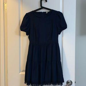 Forever 21 Exclusive dark navy tiered dress